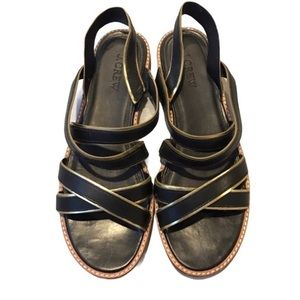J. Crew Women's Cross Strap Leather Sandals